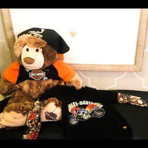 Harley Davidson Bear and onsie baby set!!